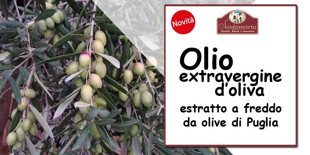 banner olio extravergine di oliva a marchio santamaria